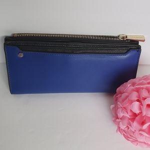 🌸Danier🌸 Blue/ Black Buttery Soft Leather Wallet